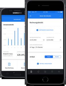 invoiz als App für iOS und Android