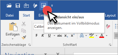 Word Vollbildansicht Icon