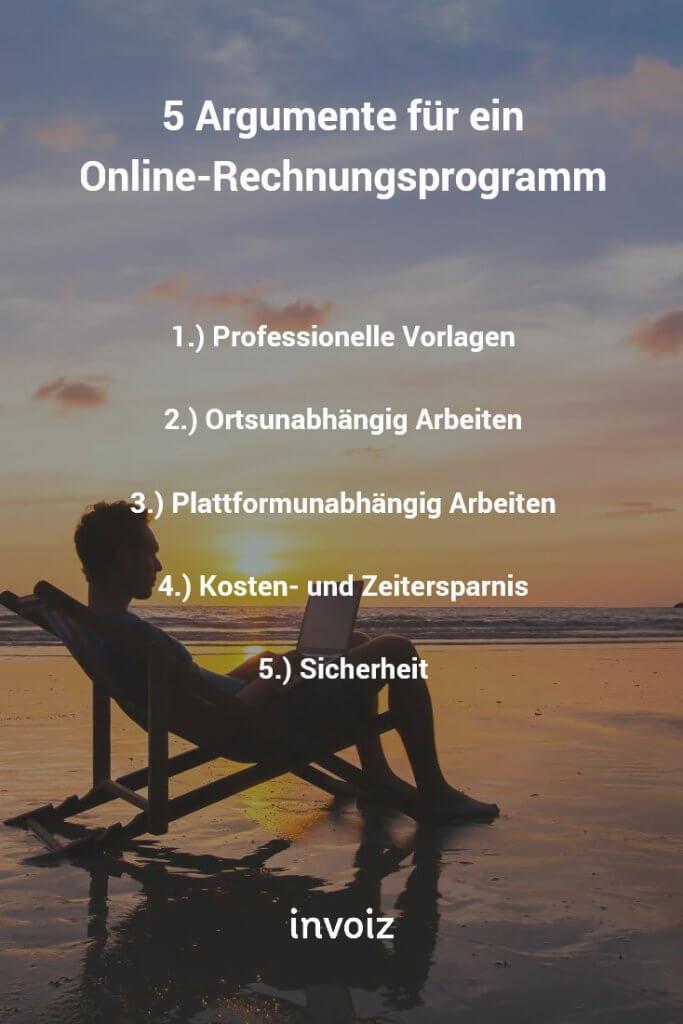 Argumente Online Rechnungsprogramm