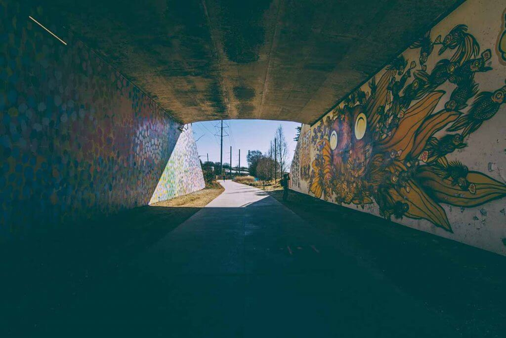 Grafitti in Bahnunterführung