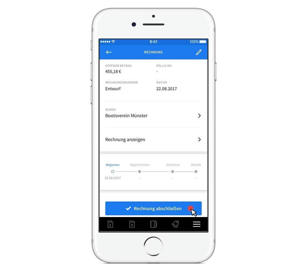 Rechnung in invoiz erstellen