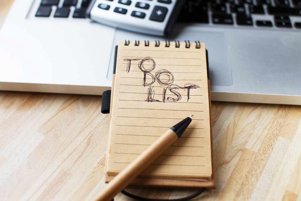 To Do Liste, nicht vergessen!
