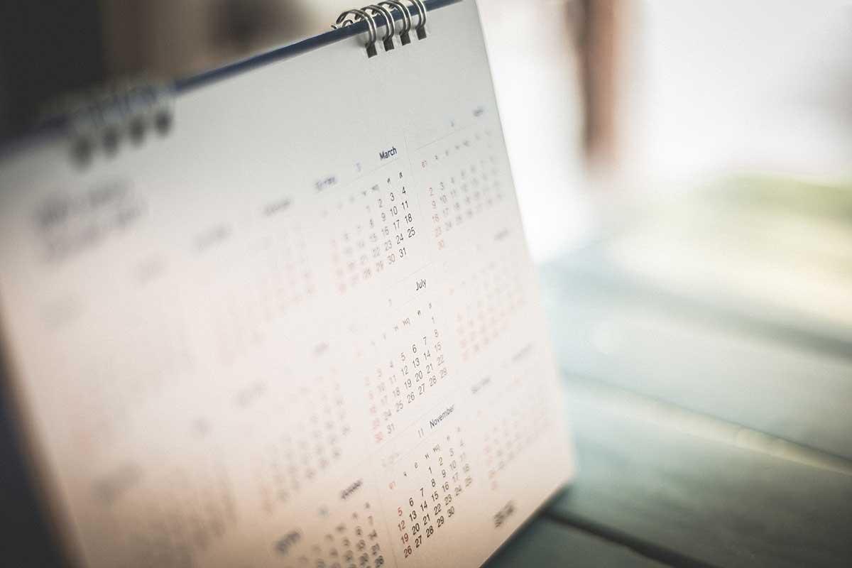 Kalender erinnert an Verjährungsfrist