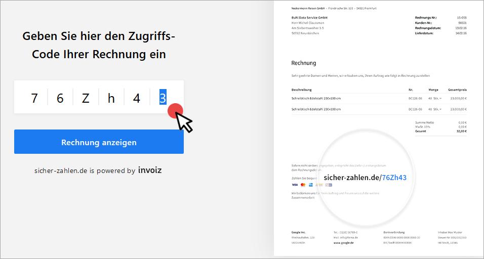 invoizPAY auf sicher-zahlen.de