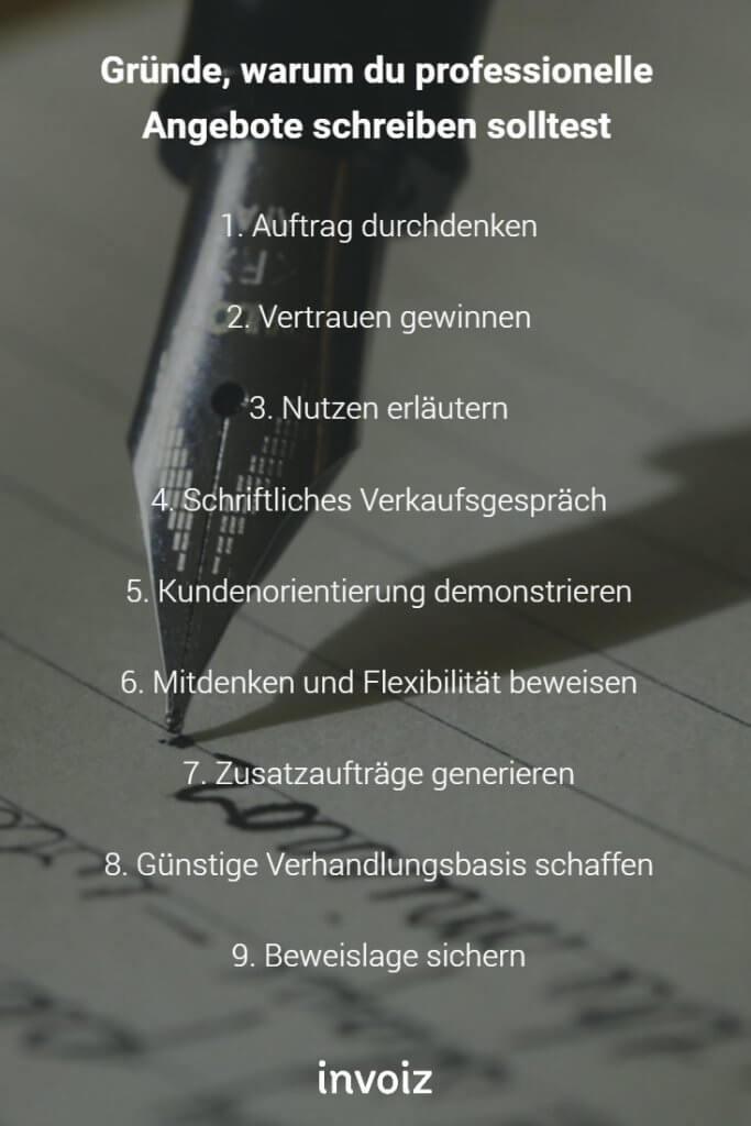 Rechnungsprogramm Invoiz Angebot Schreiben So Gehts
