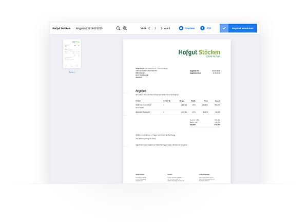 Kundencenter Dokumentenzugriff