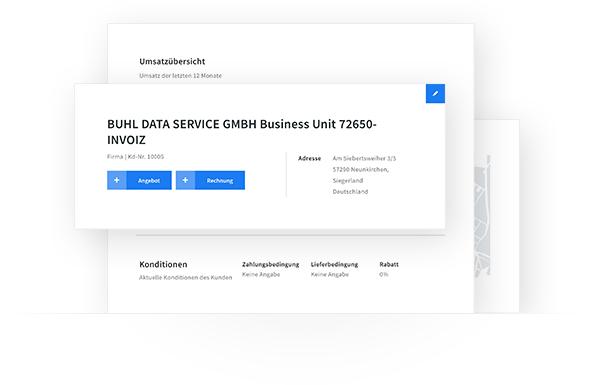 Kundenverwaltung mit invoiz