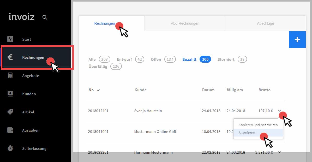Invoiz Rechnungssoftware Mit Gobd Anschluss