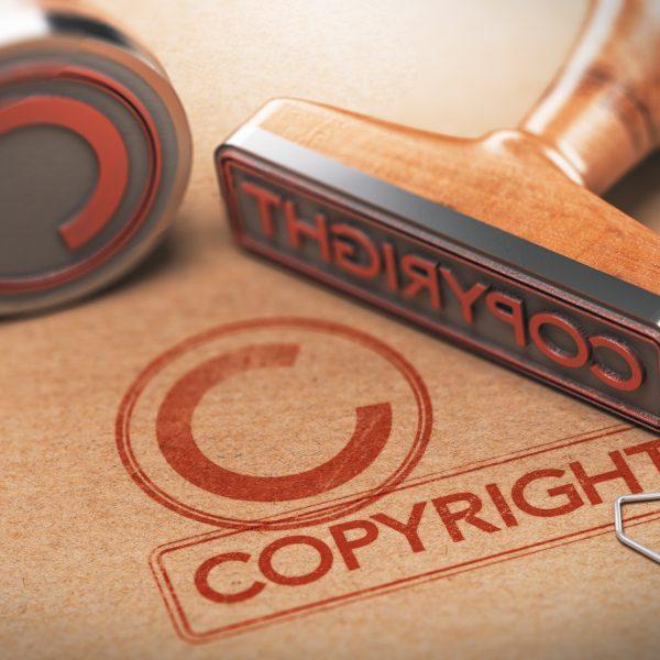 Urheberrecht - copyright stamp
