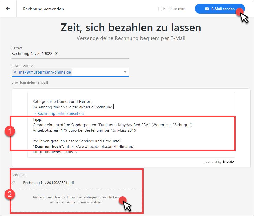 E-Mailversand