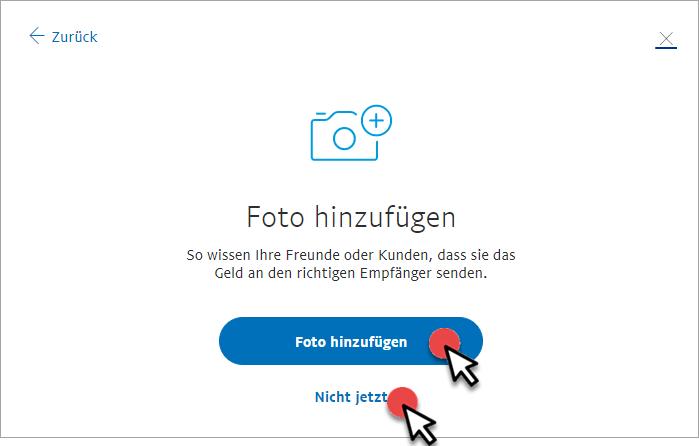 PayPal.Me-Profil Foto hinzufügen