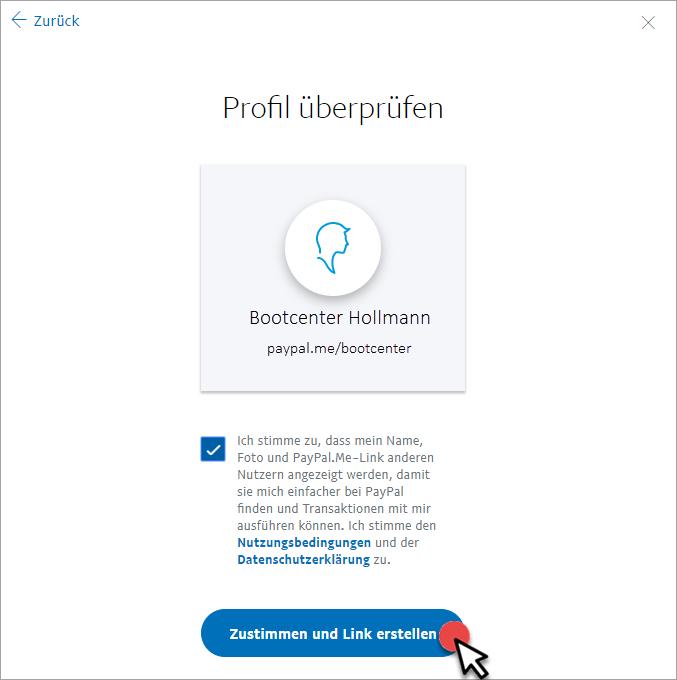 PayPal.Me-Profil veröffentlichen