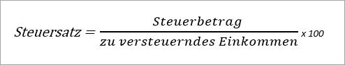 Steuersatz berechnen